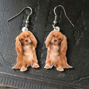 Cavalier King Charles Spaniel Earrings / NWT / Dog